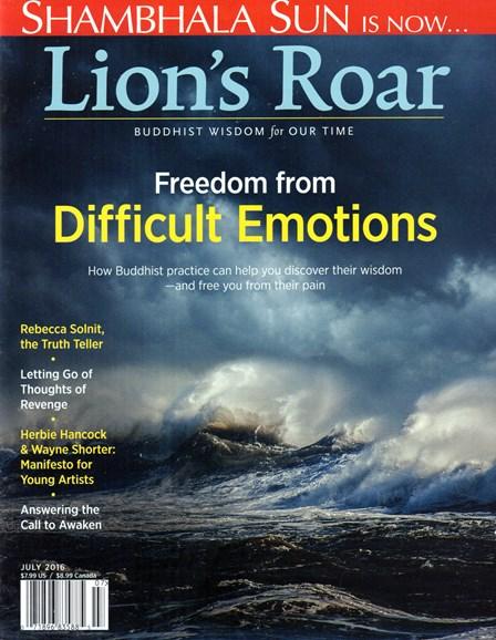 Lion's Roar Cover - 7/1/2016