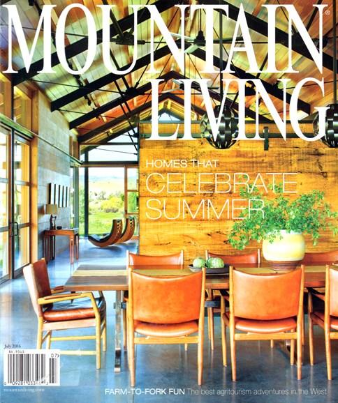 Mountain Living Cover - 7/1/2016
