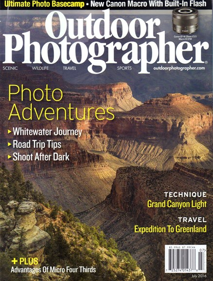 Outdoor Photographer Cover - 7/1/2016
