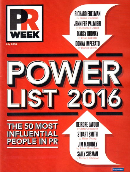 PRWeek Cover - 7/1/2016