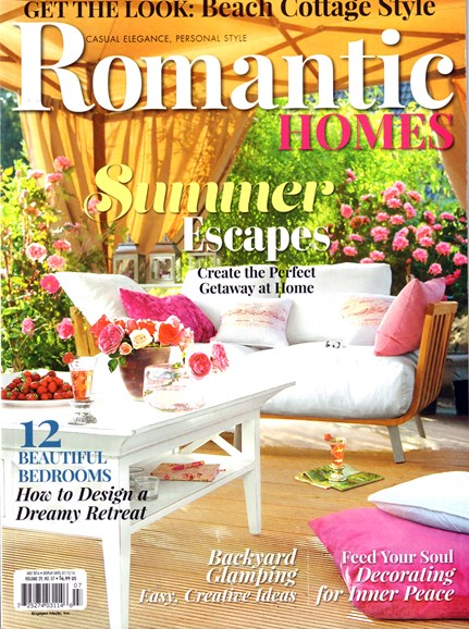 Romantic Homes Cover - 7/1/2016