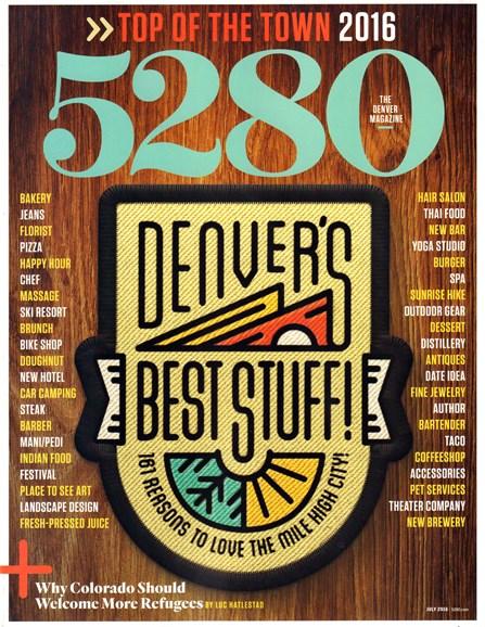 5280 Magazine Cover - 7/1/2016