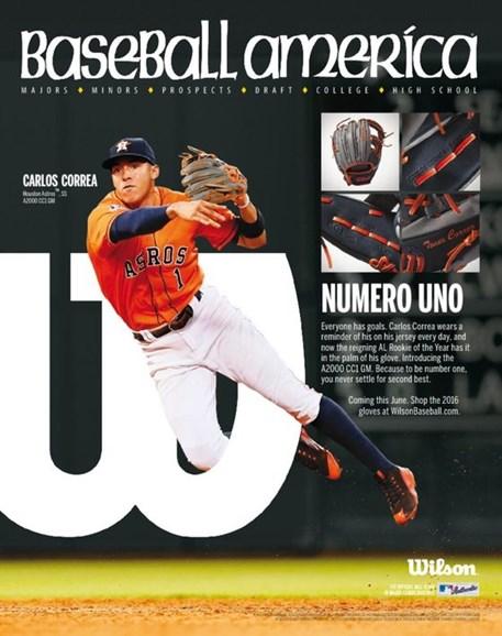 Baseball America Cover - 3/11/2016