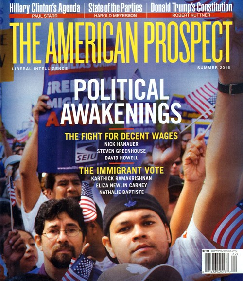 The American Prospect Cover - 6/1/2016
