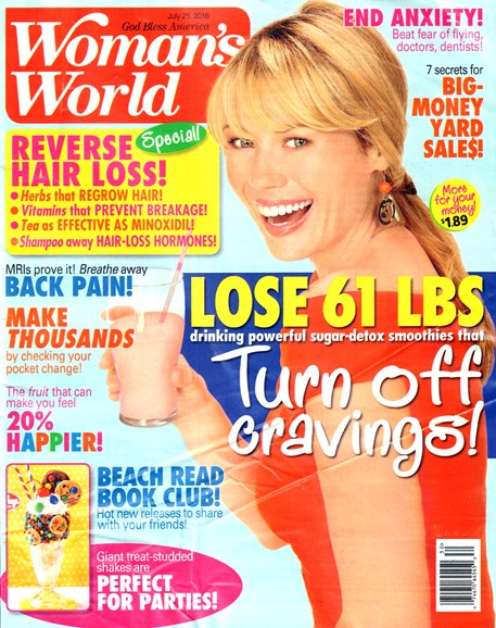 Woman's World Cover - 7/25/2016