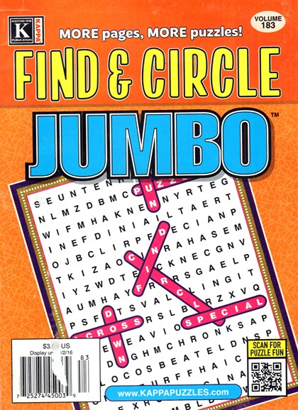 Find & Circle Jumbo Cover - 9/1/2016
