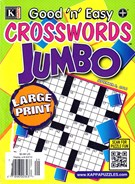 Good N Easy Crosswords Jumbo Magazine 9/5/2016