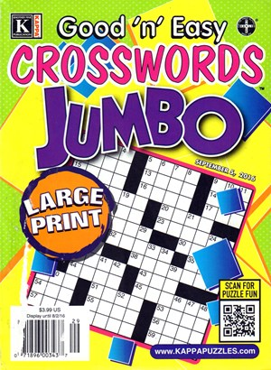 Good N Easy Crosswords Jumbo Magazine | 9/5/2016 Cover
