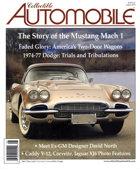 Collectible Automobile Cover - 8/1/2016