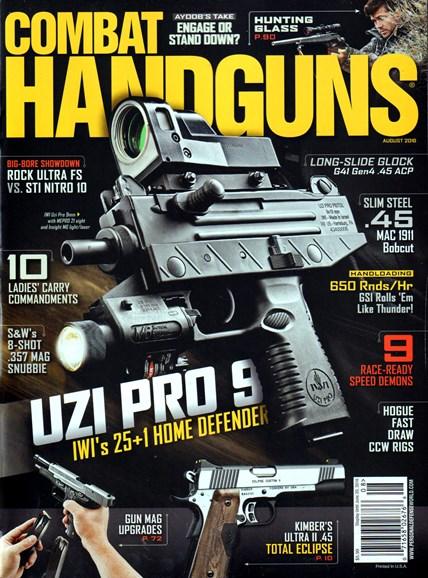 Combat Handguns Cover - 8/1/2016