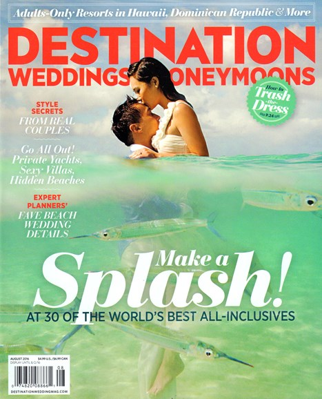 Destination Weddings & Honeymoons Cover - 8/1/2016