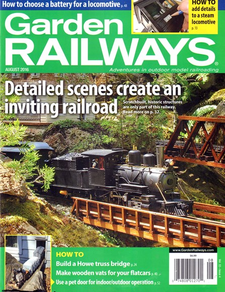 Garden Railways Cover - 8/1/2016