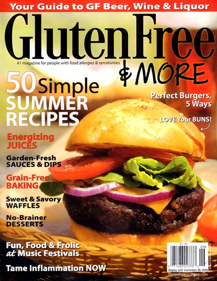 Gluten Free & More Cover - 8/1/2016
