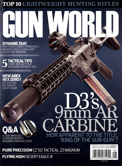 Gun World Cover - 8/1/2016