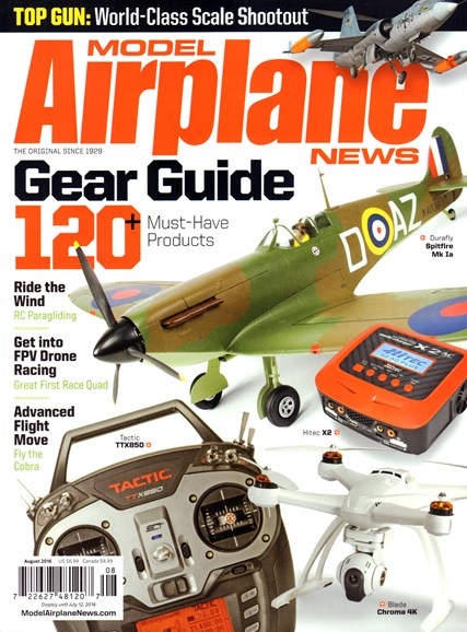 Model Airplane News Cover - 8/1/2016