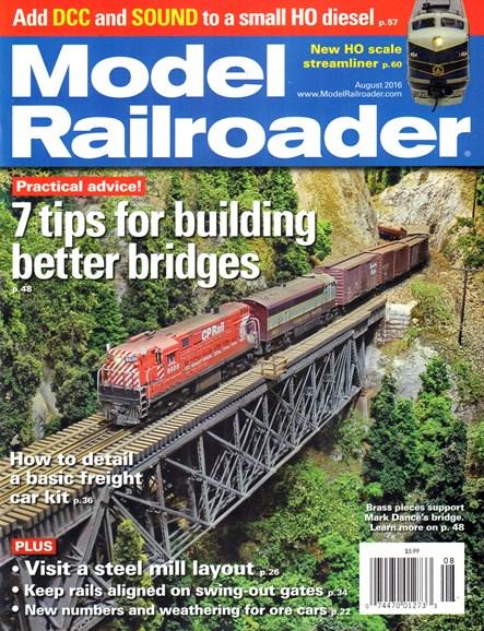 Model Railroader Cover - 8/1/2016