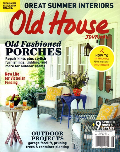 Old House Journal Cover - 8/1/2016