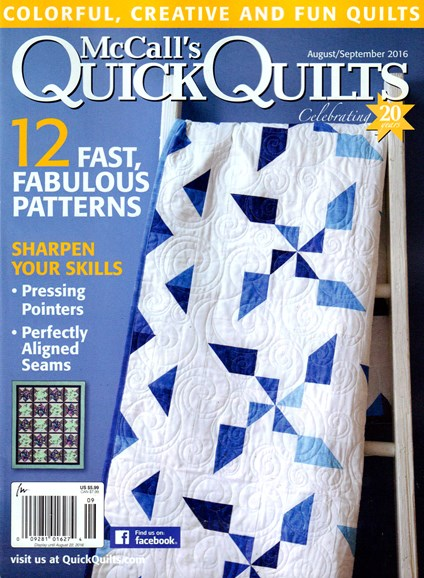 McCall's Quick Quilts Cover - 8/1/2016