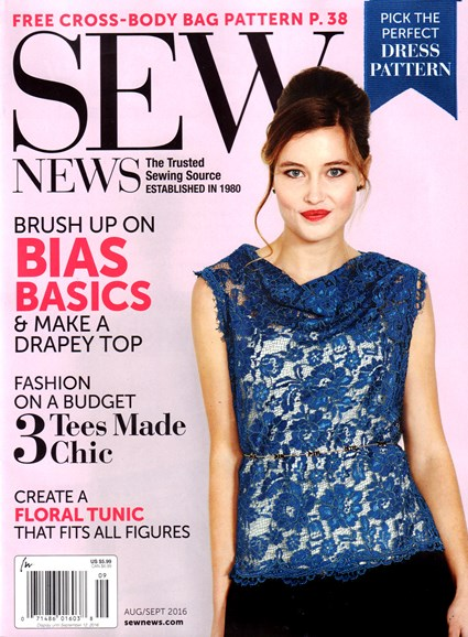 Sew News Cover - 8/1/2016
