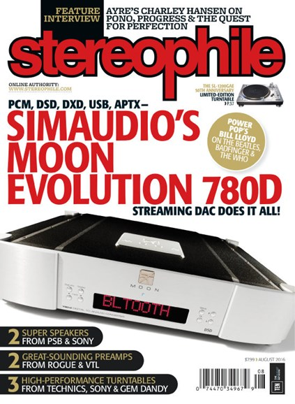 Stereophile Cover - 8/1/2016