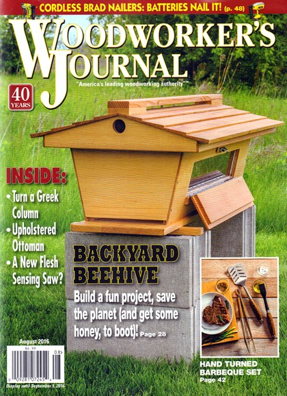 Woodworker's Journal Cover - 8/1/2016