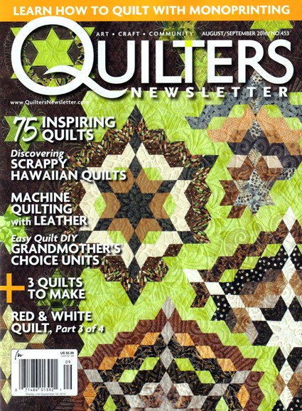Quilter's Newsletter Cover - 8/1/2016