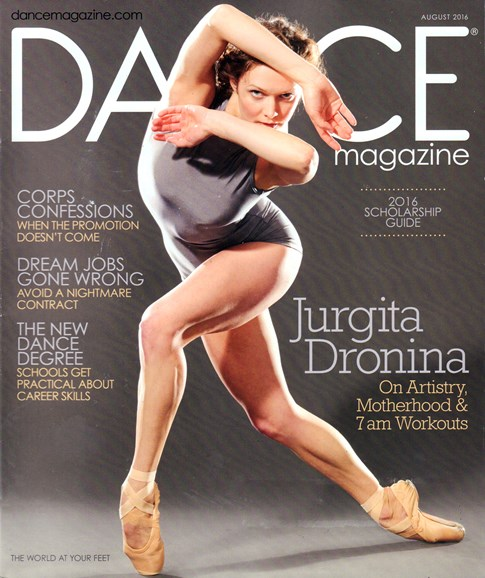 Dance Magazine Cover - 8/1/2016