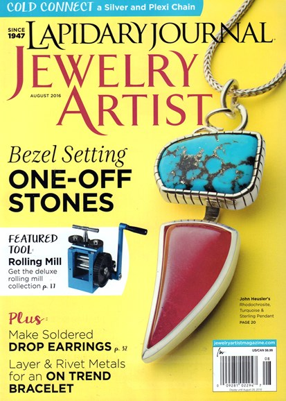 Lapidary Journal Jewelry Artist Cover - 8/1/2016