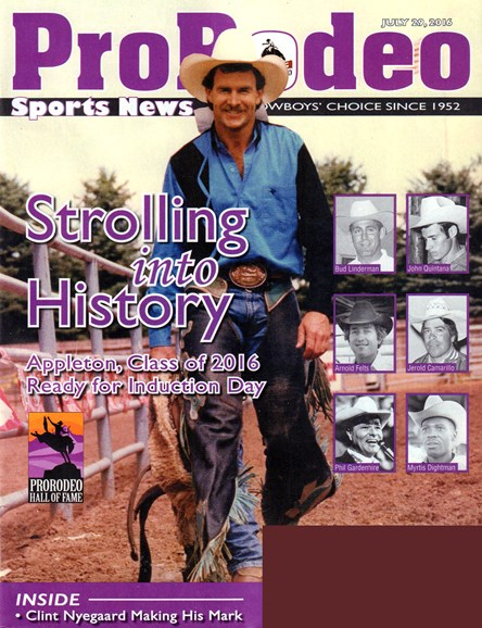 Pro Rodeo Sports News Cover - 7/29/2016