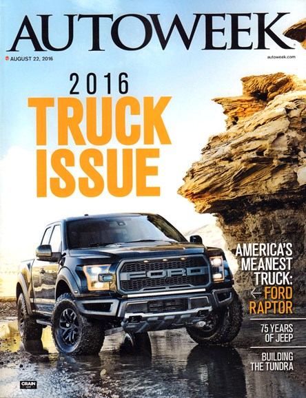 Autoweek Cover - 8/22/2016