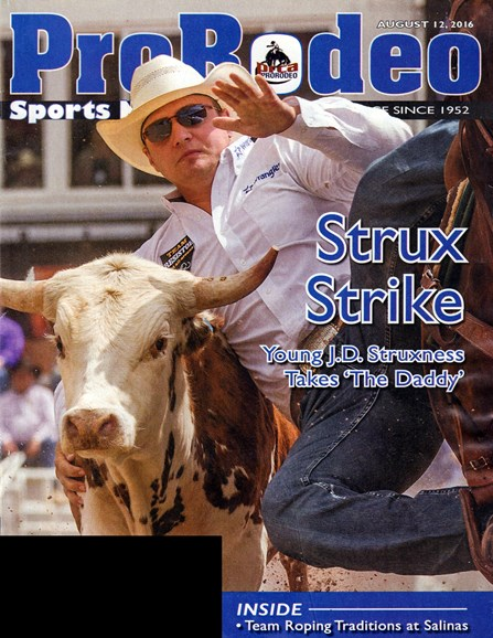 Pro Rodeo Sports News Cover - 8/12/2016