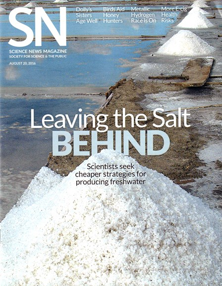 Science News Cover - 8/20/2016