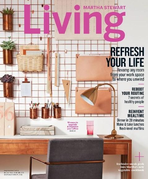 Martha Stewart Living Cover - 9/1/2016