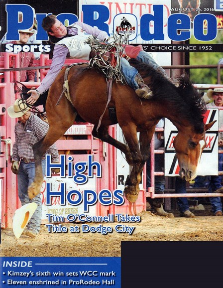 Pro Rodeo Sports News Cover - 8/26/2016