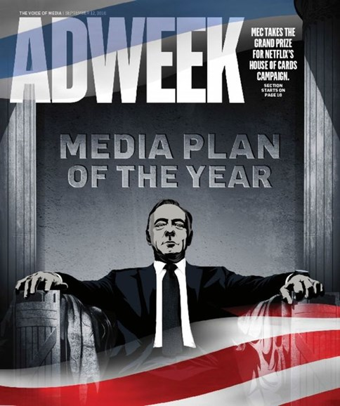 Adweek Cover - 9/12/2016