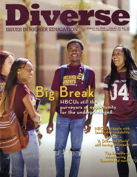 Diverse: Issues In Higher Education Cover - 8/11/2016