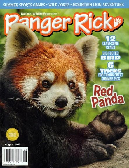 Ranger Rick Cover - 8/1/2016