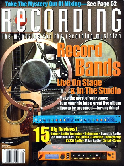 Recording Magazine Cover - 8/1/2016