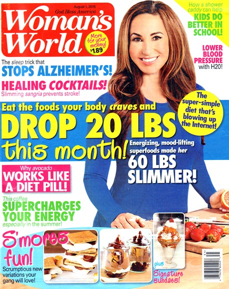 Woman's World Cover - 8/1/2016