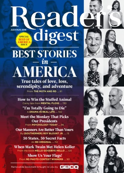Reader's Digest Cover - 7/1/2016