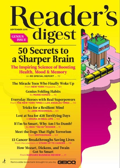 Reader's Digest Cover - 9/1/2016