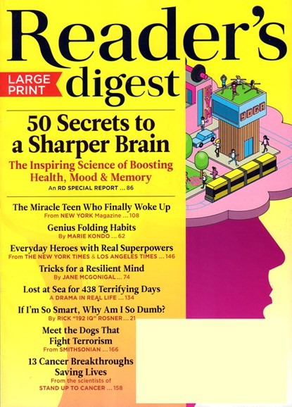 Reader's Digest - Large Print Edition Cover - 9/1/2016
