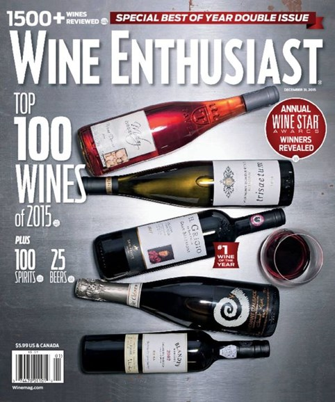 Wine Enthusiast Cover - 1/1/2016