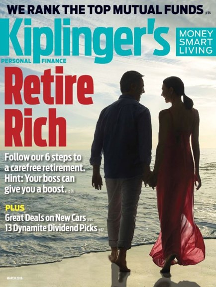 Kiplinger's Personal Finance Cover - 3/1/2016