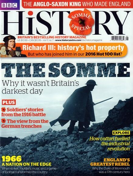 BBC History Cover - 7/1/2016