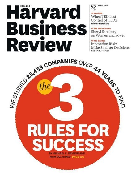 Harvard Business Review Cover - 4/1/2013