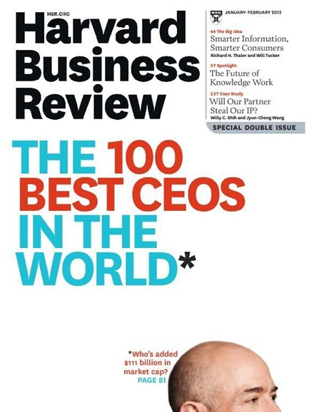 Harvard Business Review Cover - 1/1/2013