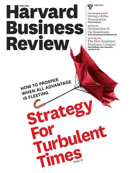 Harvard Business Review Cover - 6/1/2013