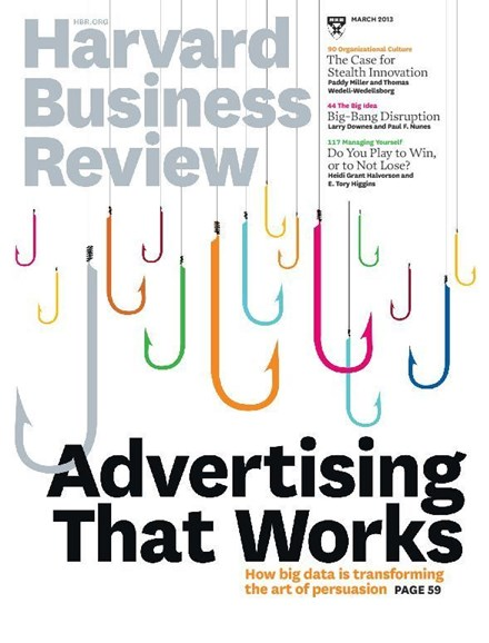 Harvard Business Review Cover - 3/1/2013