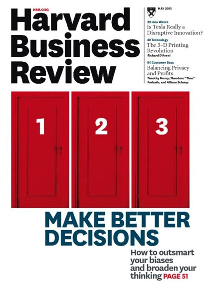 Harvard Business Review Cover - 5/1/2015